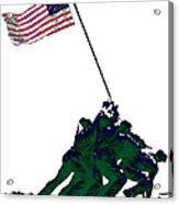 Iwo Jima 20130210-white Acrylic Print by Wingsdomain Art and Photography