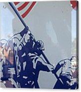 Iwo Jima Flag Raising Design Arizona City Arizona 2004 Acrylic Print