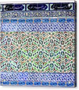Iznik Ceramics With Floral Design Acrylic Print