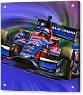 Izod Indycar Series Marco Andretti  Acrylic Print by Blake Richards