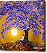 Jacaranda Sunset Meditation Acrylic Print