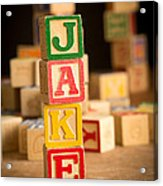 Jake - Alphabet Blocks Acrylic Print