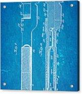 Jack Johnson Wrench Patent Art 1922 Blueprint Acrylic Print by Ian Monk