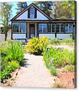 Jack London Countryside Cottage And Garden 5d24565 Long Acrylic Print