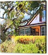 Jack London Countryside Cottage And Garden 5d24570 Long Acrylic Print by Wingsdomain Art and Photography
