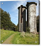 Jack London Ranch Silos 5d22162 Acrylic Print by Wingsdomain Art and Photography