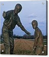 36u-245 Jack Nicklaus Sculpture Photo Acrylic Print