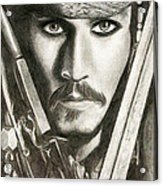 Jack Sparrow Acrylic Print by Michael Mestas