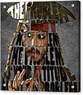 Jack Sparrow Quote Portrait Typography Artwork Acrylic Print