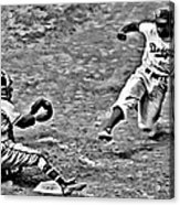 Jackie Robinson Stealing Home Acrylic Print