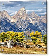 Jackson Hole Acrylic Print by Kathleen Bishop