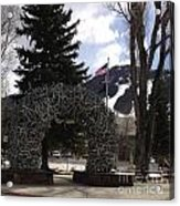 Jackson Hole Wyoming Antler Arch Acrylic Print