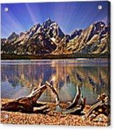 Jackson Lake Mt. Moran Acrylic Print