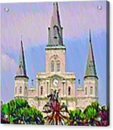 Jackson Square In The French Quarter Acrylic Print