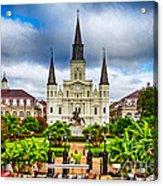 Jackson Square New Orleans Acrylic Print by Jarrod Erbe