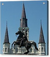 Jackson Square Salute Acrylic Print by Kevin Croitz