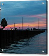 Jackson Street Pier - Sunset Acrylic Print