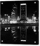 Jacksonille Black And White Night Acrylic Print