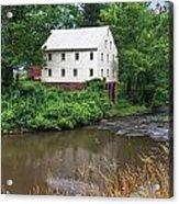 Jacksons Mill In The Rain Acrylic Print
