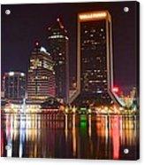 Jacksonville Aglow Acrylic Print