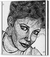 Jaclyn Smith In 1985 Acrylic Print by J McCombie