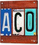 Jacob License Plate Name Sign Fun Kid Room Decor. Acrylic Print