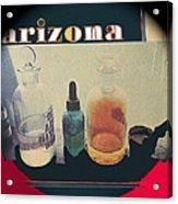 Jacobs Assay Office Front Window Tucson Arizona 1880-1969  Acrylic Print