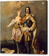Peter I With Minerva With The Allegorical Figure Of Glory Acrylic Print