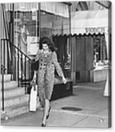 Jacqueline Kennedy In Leopard Print Acrylic Print by Retro Images Archive