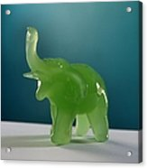 Jade Elephant Acrylic Print