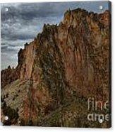 Jagged Peaks At Smith Rock Acrylic Print