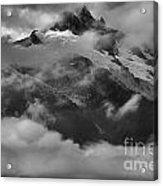 Jagged Peaks Glaciers And Storms Acrylic Print