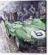 Jaguar D-type  1955 Le Mans  Acrylic Print