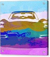 Jaguar E Type Front Acrylic Print by Naxart Studio