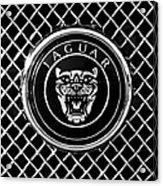 Jaguar Grille Emblem -0317bw Acrylic Print