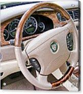 Jaguar S Type Interior Acrylic Print
