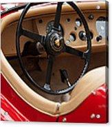Jaguar Steering Wheel Acrylic Print by Jill Reger
