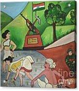Jai Jawan Jai Kisan Acrylic Print