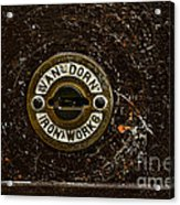 Jail Cell Door Lock Close Up Acrylic Print