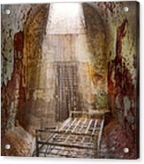 Jail - Eastern State Penitentiary - 50 Years To Life Acrylic Print by Mike Savad