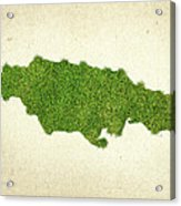Jamaica Grass Map Acrylic Print by Aged Pixel