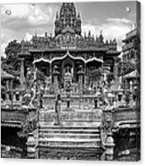 Jain Temple Monochrome Acrylic Print