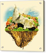 Jaipur City On Floating Land Vector Acrylic Print