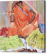 Jaipur Street Vendor Acrylic Print