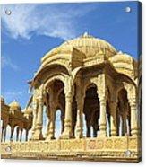 Jaisalmer Cenotaph Acrylic Print
