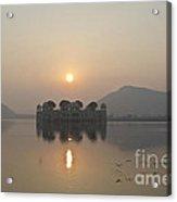 Jal Mahal In Sunrise Acrylic Print