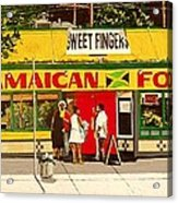 Jamaican Food Acrylic Print