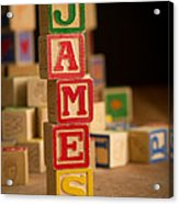 James - Alphabet Blocks Acrylic Print