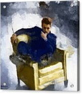 James Dean In Yellow Leather Chair Acrylic Print