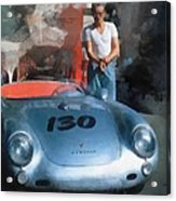 James Dean With His Spyder Acrylic Print